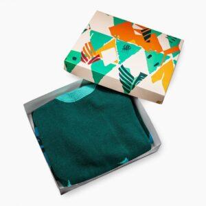 Triangle green sweater